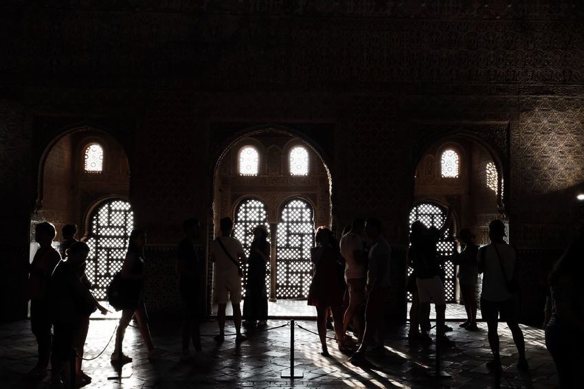 Roadtrip around Andalusia/Spain. 2nd Stop: Granada Architecture Built Structure Crowd Travel Group Tourism Travel Destinations Architectural Column Large Group Of People Group Of People Unrecognizable People Travel Photography Light And Shadow Silhouette Silhouette_collection