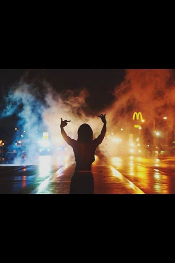 Ferguson Rip Mike Brown Protest Middle Finger