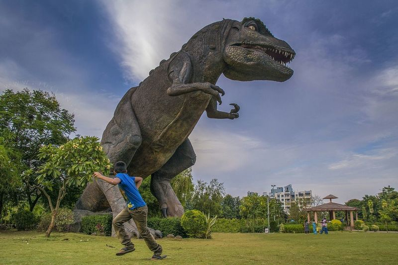 Run.... i dont know what to say...walking in a public park in Pune Maharashtra and I come across this huge t rex..later I realised that its called jurassic park Taking Photos Traveling Landscape Streetphotography Candid Having Fun Need For Speed