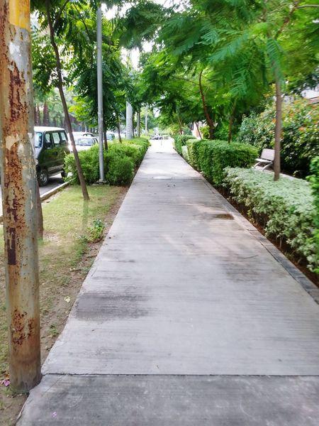 Roadside Walkway City India Ghaziabad