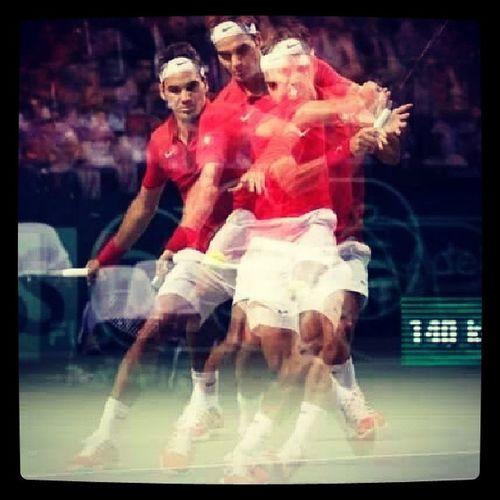 Common Roger! Swiss fighting Roger Federer DavisCup Swiss win fighting