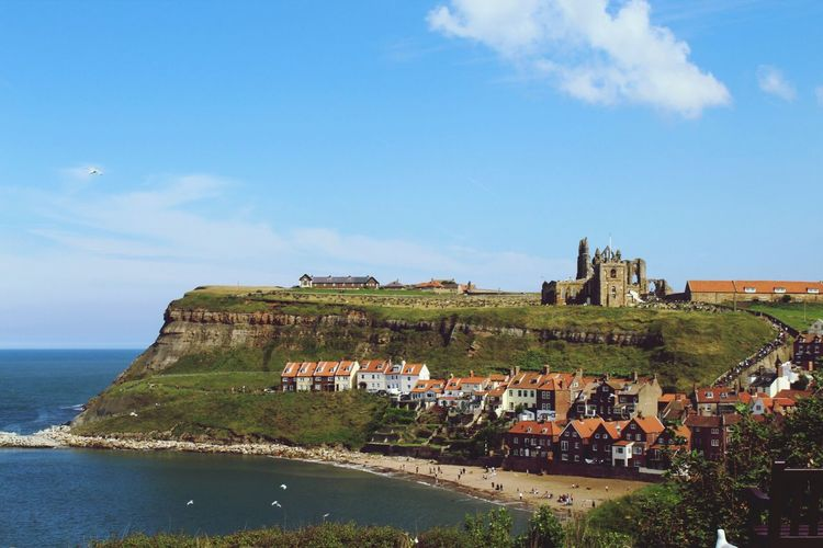 Whitby Abbey ⛪️ Architecture Sky Built Structure Sea Day Building Exterior Outdoors Nature History Cloud - Sky Blue Scenics Water Horizon Over Water No People Beauty In Nature The Week On EyeEm