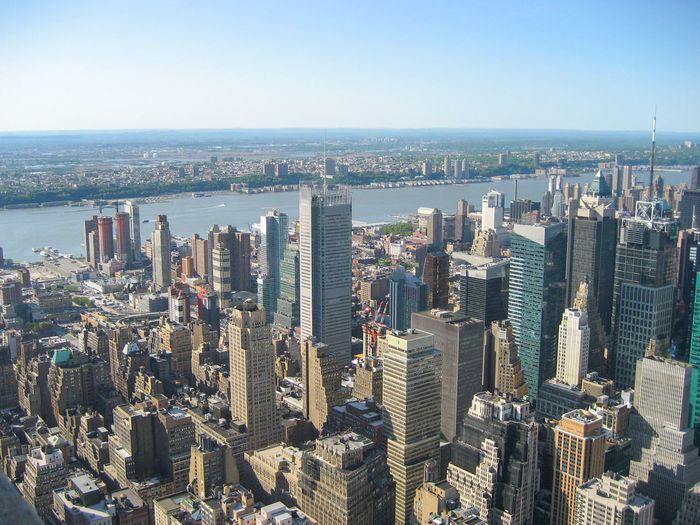 New York City view from top Manhattan Top Architecture Building Building Exterior Built Structure City Cityscape Crowd Day Downtown District Financial District  High Angle View Horizon Over Water Modern Nature Office Building Exterior Outdoors Residential District Sky Skyscraper Tall - High Top View Tower Water