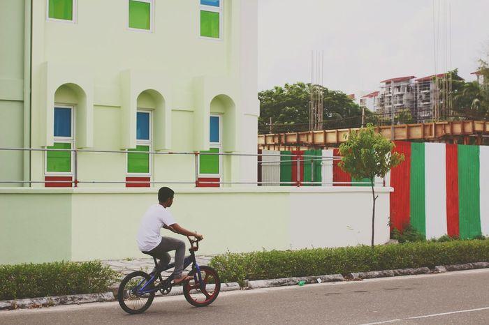 Bike Biking Bikes Childhood Hanging Out Neighborhood Outdoors On The Road Urban Lifestyle On The Way