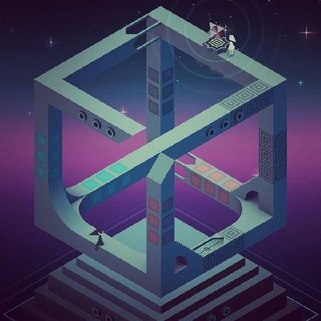 play the game. NOW. Monumentvalley Trippy Geometry Opticalillusion princessida crowpeople