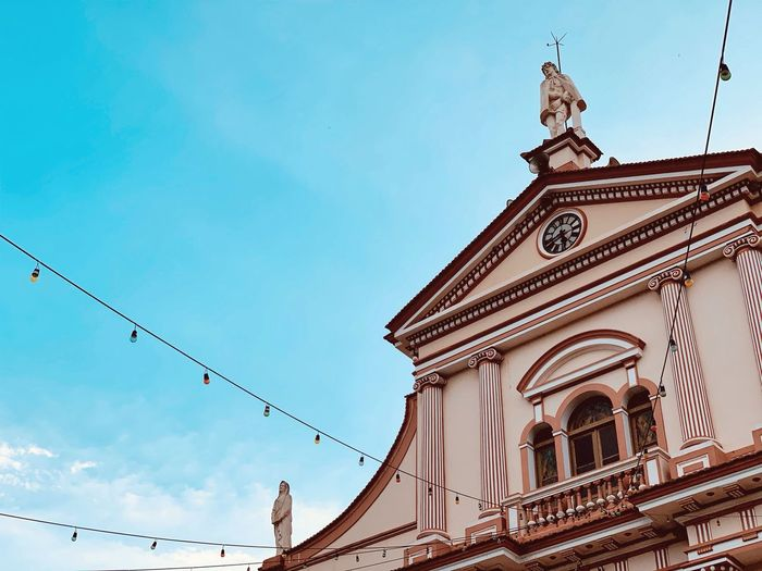 Sky Built Structure Architecture Low Angle View Building Exterior Religion Building Cloud - Sky History Nature Day No People Place Of Worship Spirituality The Past Tower Outdoors Ornate Spire  Belief