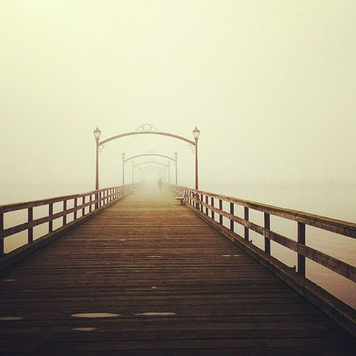 White Rock pier Vancouver Bc Whiterock White rock pier foggy fog canada