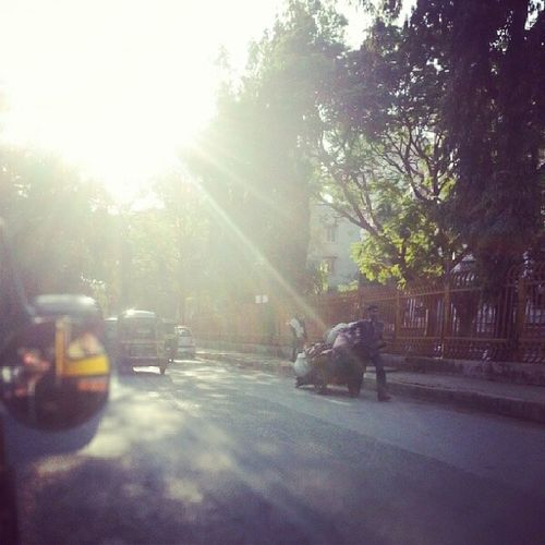 Sunshine Afternoon Street_style Street_igers instawalk sunlight street rickshaw sunny sunnyday natural_light weather sunshine shine beautifulday lookup sky skyporn brightsun