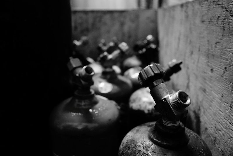 Focus On Foreground Close-up Large Group Of Objects No People Indoors  Day HVAC Blackandwhite Blackandwhitephotography Black & White Black And White Industrial Photography Industrial Beautifully Organized Tanks Organized Brazing Copper  Bin