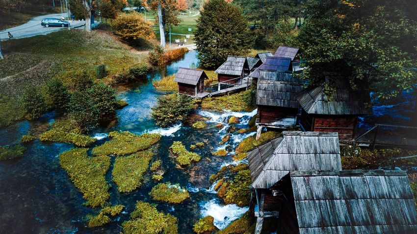 Bosnia and Herzegovina (Place) -Jajce #mlincici Timelapse Old House Old Picture Beatiful Alajdinglamocic Jajce Bosnia And Herzegovina History Blue Green River #Nature  Plant Tree Day Growth No People Nature Outdoors First Eyeem Photo