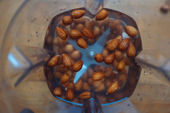 Homemade almond milk! Almond Milk Almond Brown Close-up Coffee Bean Day Directly Above Food Food And Drink Freshness Healthy Eating High Angle View Indoors  No People Nut - Food Raw Coffee Bean Roasted Roasted Coffee Bean Table