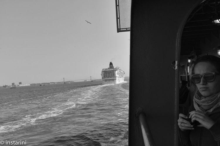 E la nave va Blackandwhite Departing At Sea Blackandwhite Portrait