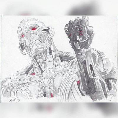 """I wanted to take this time to explain my evil plan"" Repost Ultronprime Ultron Marvel Marvelentertainment Art Sketches Illustration Nerd Comics Movies AgeOfUltron Avengers Theavengers Drawings Pencil Disney Mcu ArtWork"
