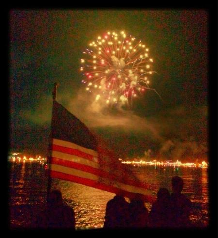 Fireworks from the ferry IPhoneography Holiday