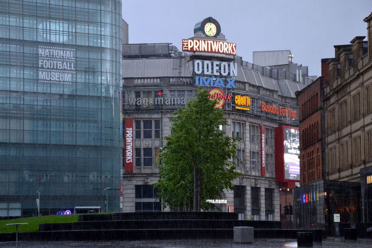 Printworks Architecture Building Exterior Built Structure Cathedral Gardens City Clock Communication Day Manchester Cathedral Gardens Manchester UK National Football Museum  No People Outdoors Police Station Rain Raining Sky Text The Great Outdoors - 2017 EyeEm Awards The Photojournalist - 2017 EyeEm Awards The Street Photographer - 2017 EyeEm Awards Urbis Western Script