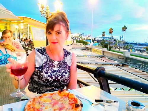 Tenerife España Vacations Smiling That's Me Going Out Sunset Smiley Face Smile Posing For The Camera The Best From Holiday POV