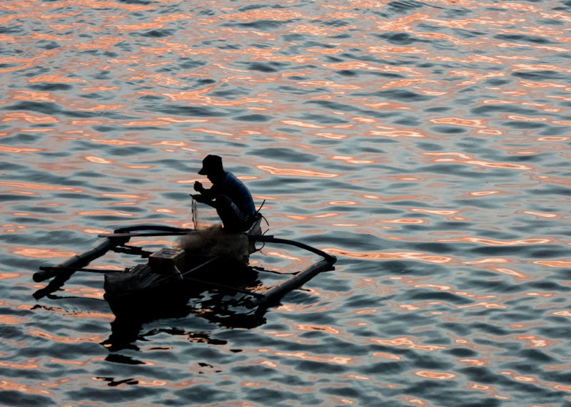 Fishing Cebu Golden Hour Silhouette Nature Sunset Sitting Day One Person