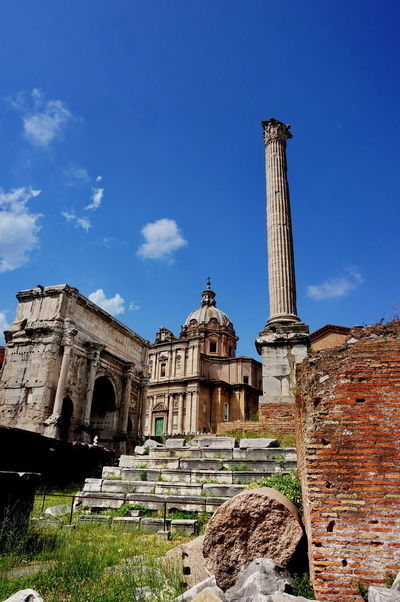 NEX-5T Rome Ancient Ancient Civilization Archaeology Architectural Column Architecture Blue Building Exterior Built Structure Day History Low Angle View No People Old Ruin Outdoors Place Of Worship Religion Sky Sony Spirituality Travel Destinations