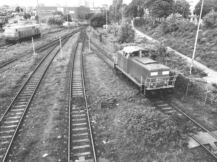 Train Blackandwhite View Lines