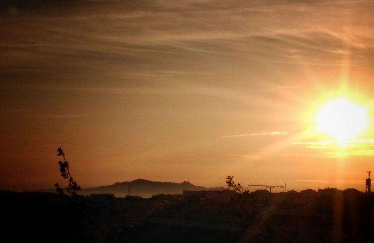 Tree Sunset Mountain Sun Silhouette Sunlight Sky Landscape EyeEmNewHere