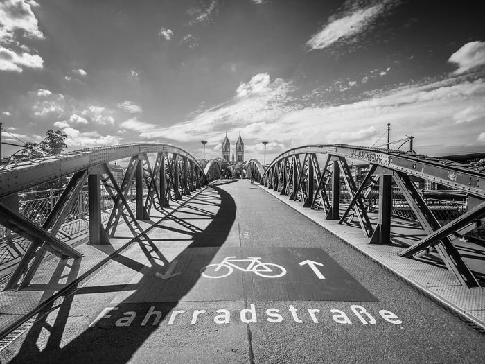 arch of bridge Bikes Bke Bridge - Man Made Structure City Cityscape Day Fahrradstrasse No People Outdoors Sky Travel Destinations Vacations