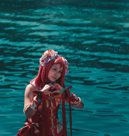 // Cosplay Japan // AMPt_community Anime Colors Japan Portraits Ultimate Japan Beautiful Woman Beauty In Nature Cartoon Character Day Dyed Hair Fashion Leisure Activity Lifestyles Nature Nautical Vessel One Person Outdoors Portrait Real People Red Sea Shootermag Shootermagazine Standing Water Young Adult Young Women