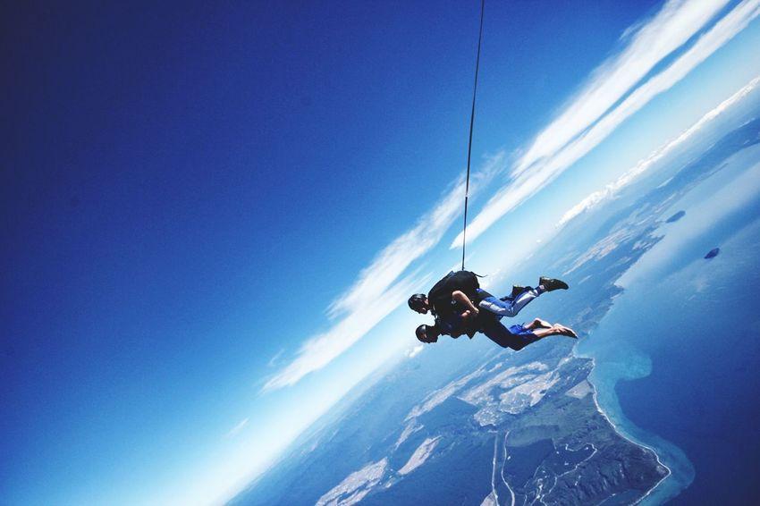 Capturing Freedom Lake Taupo New Zealand Skydiving Skydive Freefall Taupo Parachute