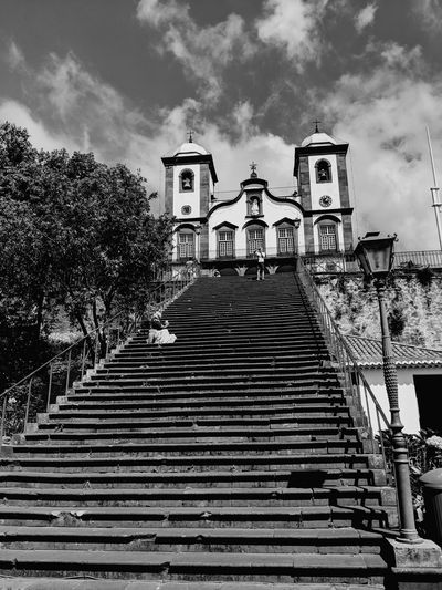City Steps And Staircases Steps Staircase Sky Architecture Building Exterior Cloud - Sky Built Structure Historic Cathedral Catholicism Statue Ancient Civilization Sculpture Civilization Sculpted