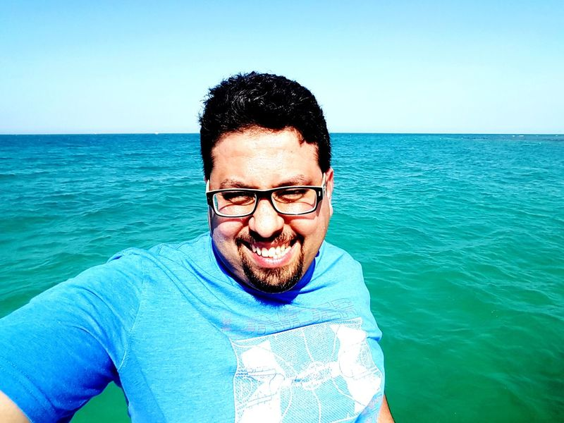 EyeEm Selects Water Sea Blue One Man Only Beach One Person Adult Front View Portrait Outdoors Summer Vacations Sky Sunny☀ Day Sky Red Sea,Hurghada,Egypt Sports Inner Power