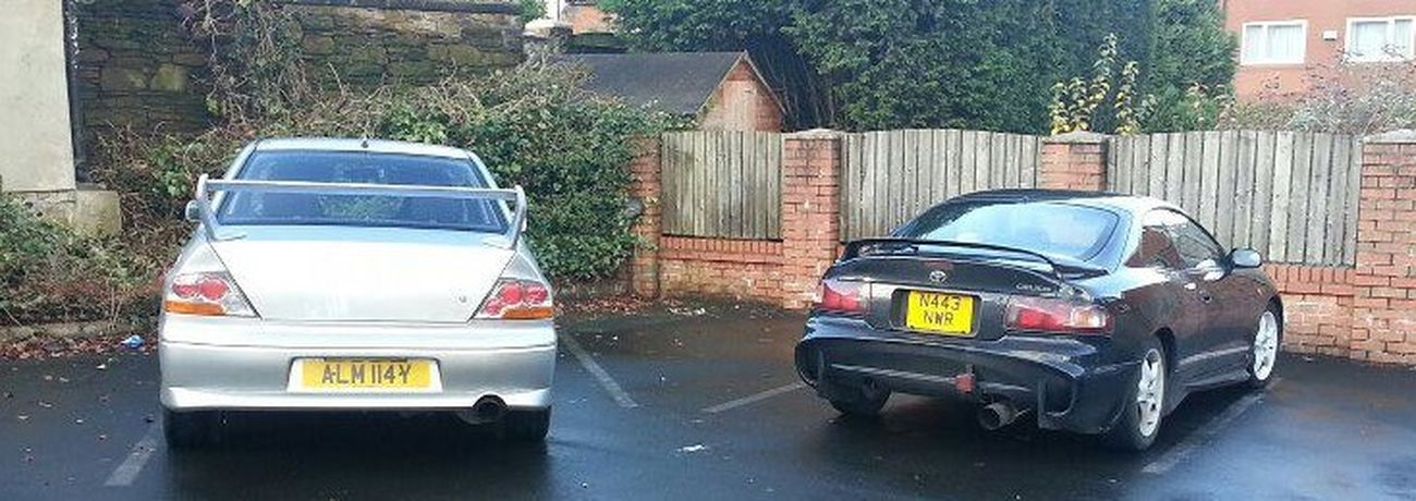 My import celica and my friend alicia's evo 8 :) Evo Love Celicas Jdm Car Lover