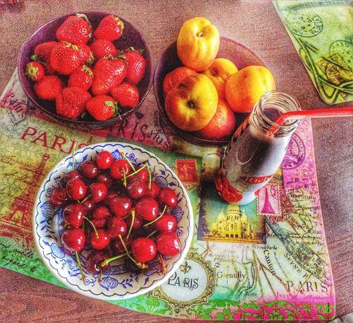 Hi! Relaxing Beautiful Day 💪☀️ Beautiful фрукты любовьисчастье СЧАСТЬЕ 🍒🍑🍓😋