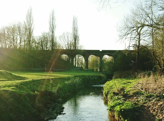 Spring Has Arrived Sunshine Rural Scene Nature On Your Doorstep River Viaduct Parkland Going For A Walk Check This Out Taking Photos Hello World Cheadle Hulme, UK.
