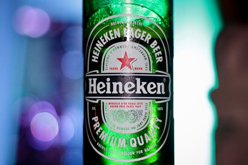 Give me a Heineken! Text Close-up No People Western Script Communication Focus On Foreground Green Color