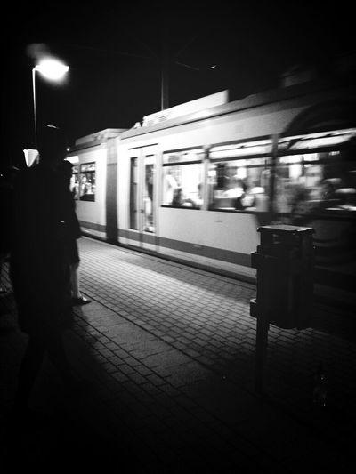 Night Lights Jena Streetphotography Blackandwhite