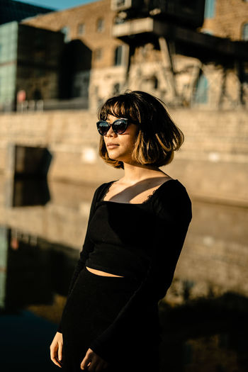 Fashion Sunglasses Glasses One Person Focus On Foreground Young Adult Standing Lifestyles Architecture Real People Young Women Built Structure Beautiful Woman Three Quarter Length Beauty Waist Up Building Exterior Leisure Activity Hairstyle Outdoors My Best Photo