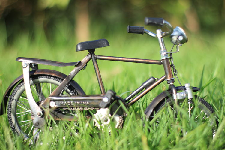 Architecture Aceh Transportation Mode Of Transportation Grass Land Vehicle Plant Bicycle Green Color Field Selective Focus Day Land No People Nature Stationary Outdoors Metal Growth Travel Wheel Close-up