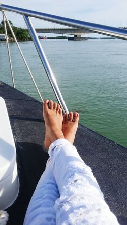 Having fun on a boat Relaxing Batam-Indonesia Sea View Barelang Bridge In Batam Island