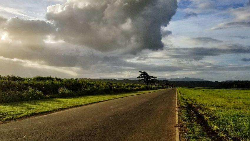 Caribbean Life Puerto Rico While Running Traning Suddenly Cloud - Sky Agriculture Rural Scene Field Beauty In Nature Landscape Nature Outdoors Sky Grass Day