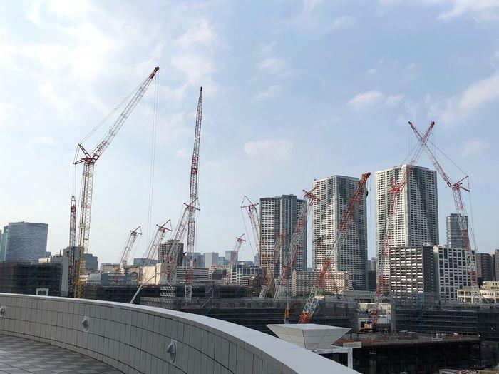 晴海埠頭 Tokyo Olympic Tokyo Bay Harumi Wharf Wharf Under Construction Architecture Sky Building Exterior Built Structure City Building Cloud - Sky