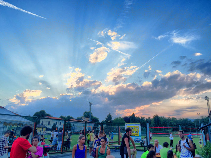 made by IPhone6Plus #aerial Trails #clouds  #Jesus #people #summer #sunset #trend #Volleyball