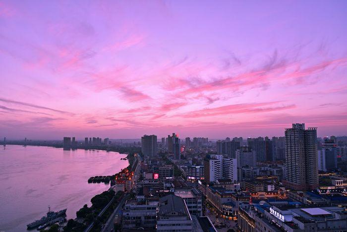 Cloud - Sky Sunset City Sky Pink Color Multi Colored