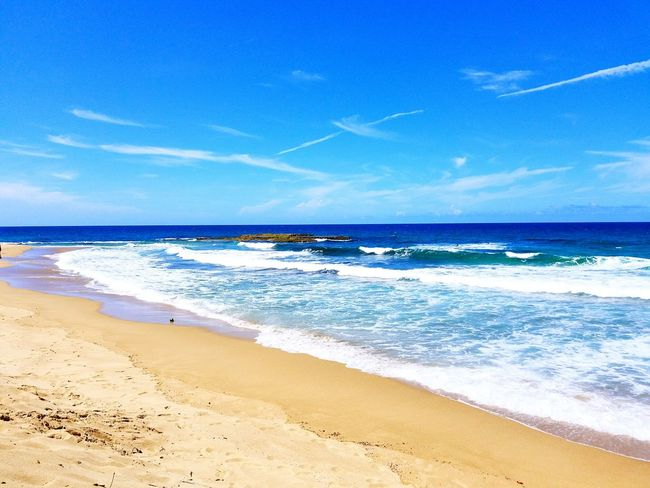 My Favorite Place Tide Shore Water Sky Beach Sea Sand Tranquil Scene Scenics Blue Nature Calm High Angle View Likes Beauty In Nature Horizon Over Water Vapor Trail Non-urban Scene