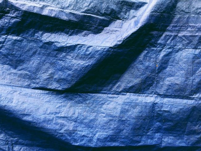 Blue Canvas Cover Tarp Backgrounds Full Frame Textured  No People Rough Pattern
