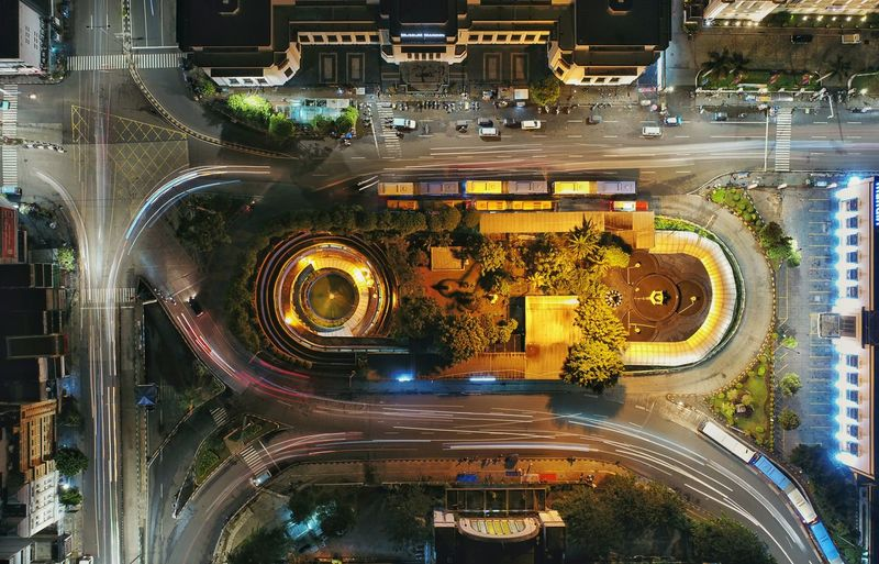 Old Town Jakarta Architecture Building Exterior Built Structure Car City Cityscape High Angle View Illuminated Land Vehicle Light Trail Long Exposure Mode Of Transportation Motion Motor Vehicle Multiple Lane Highway Night No People Outdoors Road Speed Street Traffic Circle Transportation First Eyeem Photo