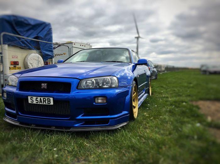 R34 GTR R34 Blue Car CarShow Fastshow First Eyeem Photo