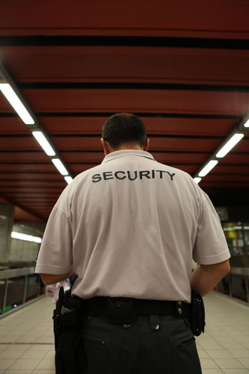 Security Guard On Subway Station