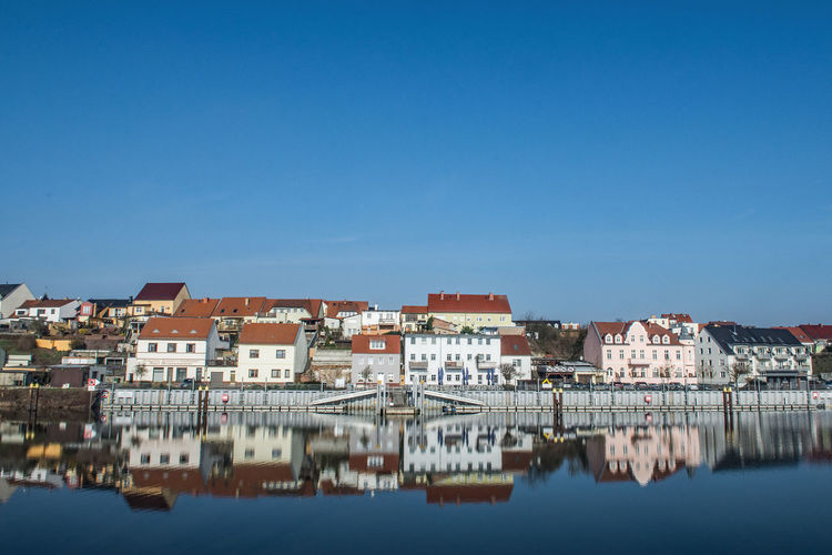 Port Fürstenberg (Oder) Waterfront No People Reflection Day Town Outdoors TOWNSCAPE Blue Water