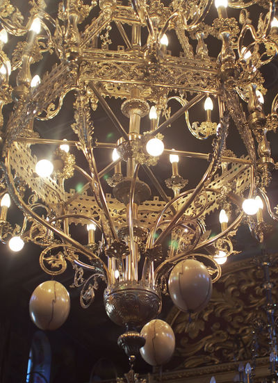 Backgrounds Chandelier Christmas Decoration Christmas Ornament Close-up Electricity  Glowing Hanging Illuminated Indoors  Kefalonia, Greece Light Bulb Lighting Equipment Low Angle View No People Shiny