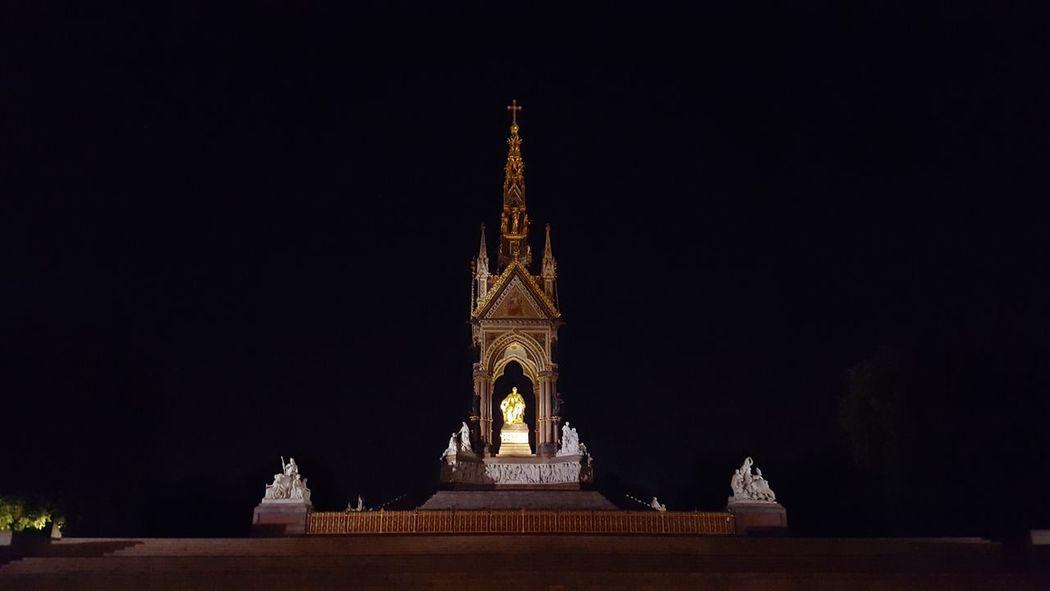 Albert Memorial Night RoyalAlbertHall London Lighting Statue Detail Beautiful