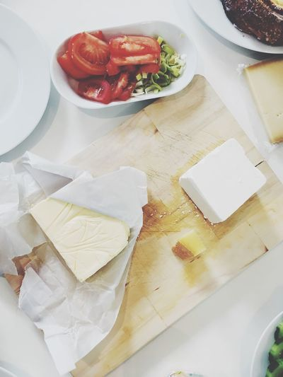 Cheese! Food And Drink Brunch Cheese Butter High Angle View Food Freshness Healthy Eating Indoors  Plate Ready-to-eat Close-up No People SLICE Sandwich Fast Food Healthy Buffet Breakfast European